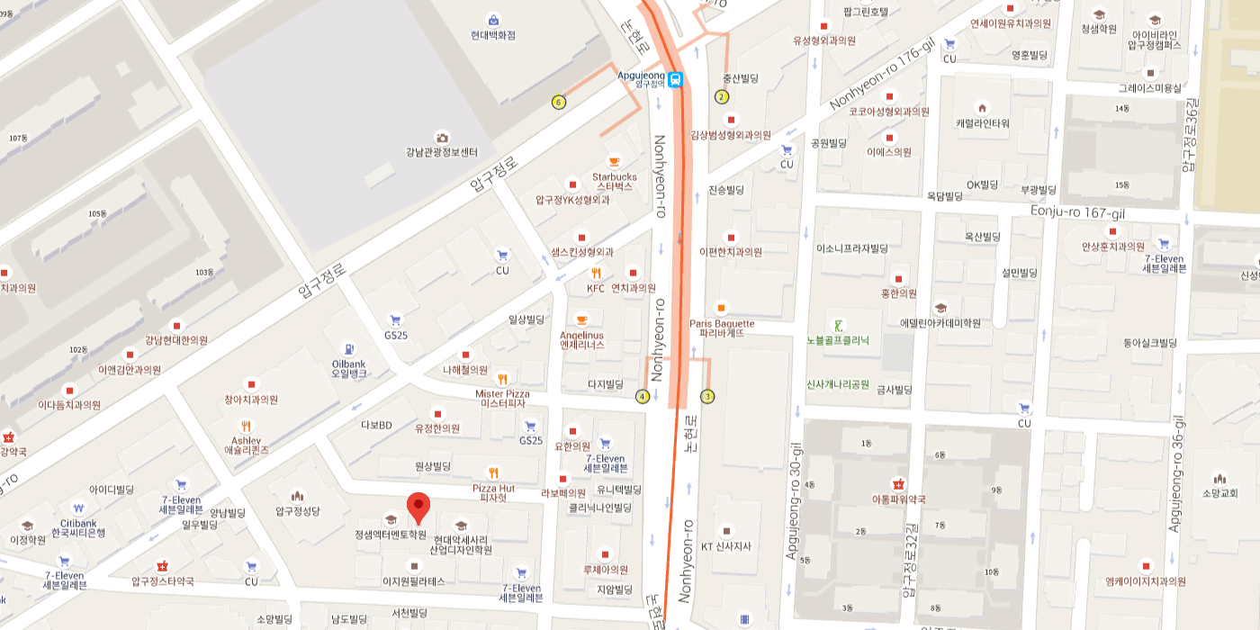 Location map of ivyline dental clinic